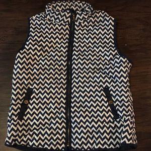 Blue and white chevron vest